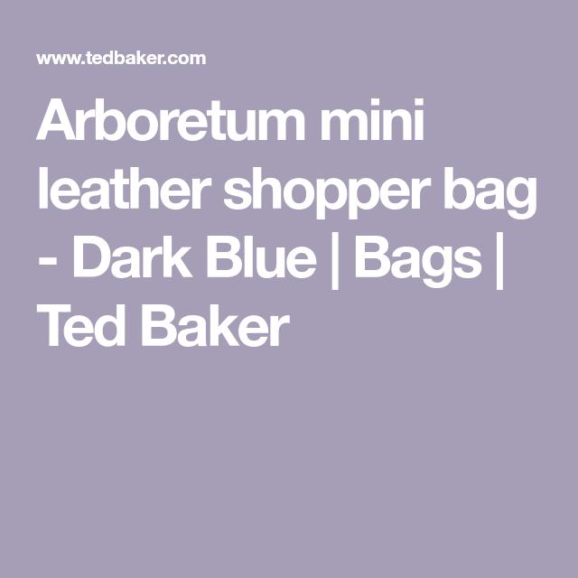 015d921b4db1 Arboretum mini leather shopper bag - Dark Blue