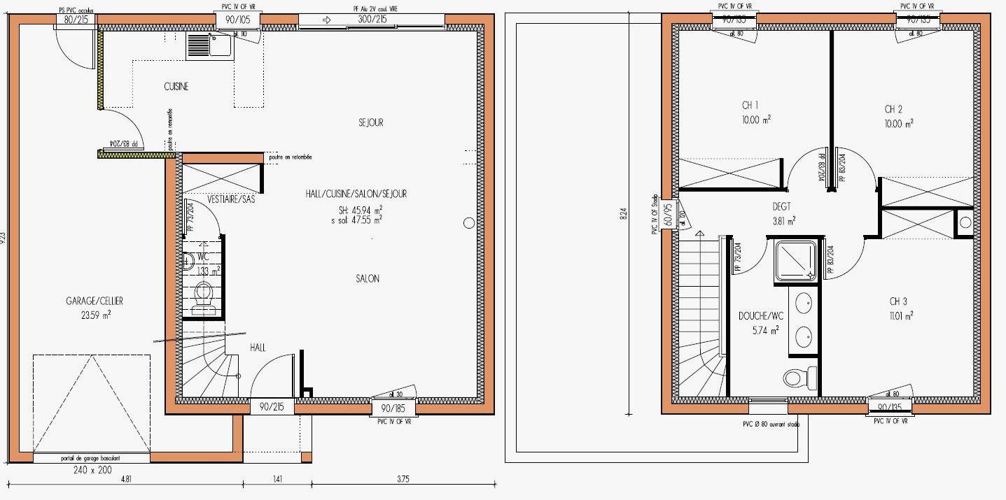 Plan De Maison R 1 Avec Garage Infos Et Ressources 0