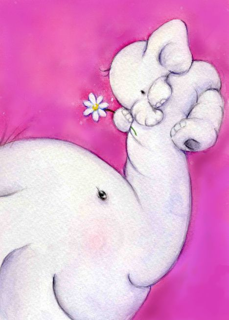 Bella Elefante Bordado Elefantes Bebé Dibujo De Bebé Y Imagen