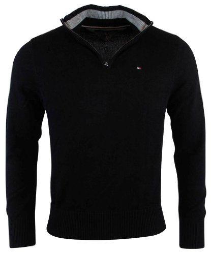 Tommy Hilfiger Mens Half Zip Mock Neck Sweater Mens Outfits Mens Clothing Styles Tommy Hilfiger