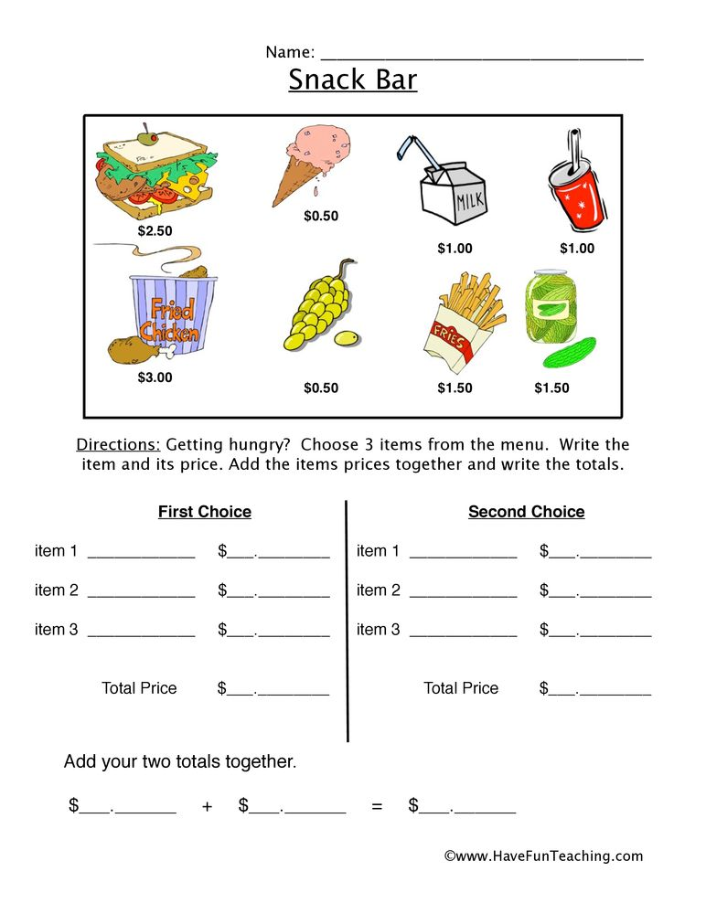 Math Worksheets Have Fun Teaching Have Fun Teaching Money Activities Teaching Money