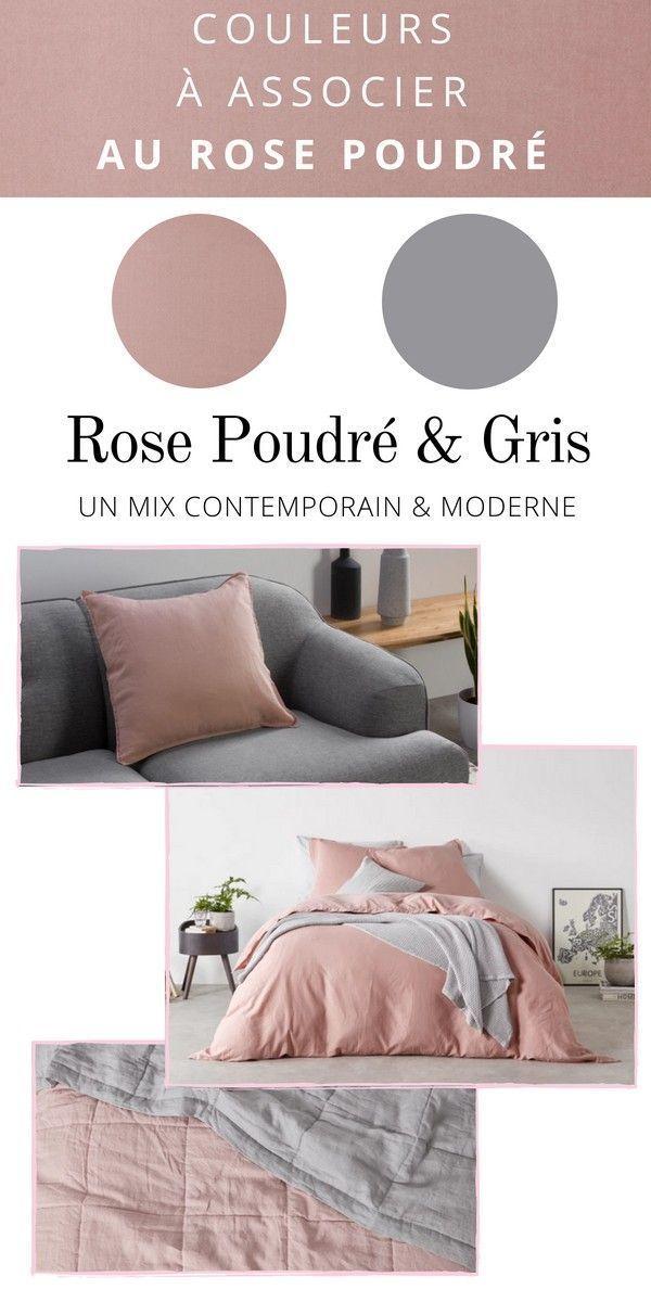 D co rose poudr 20 meubles accessoires tendance 2018 - Chambre grise et rose poudre ...