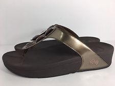 ff02876e89ba FitFlop Pietra Bronze Metallic Jewel Thong Sandals Womens Size 10 ...