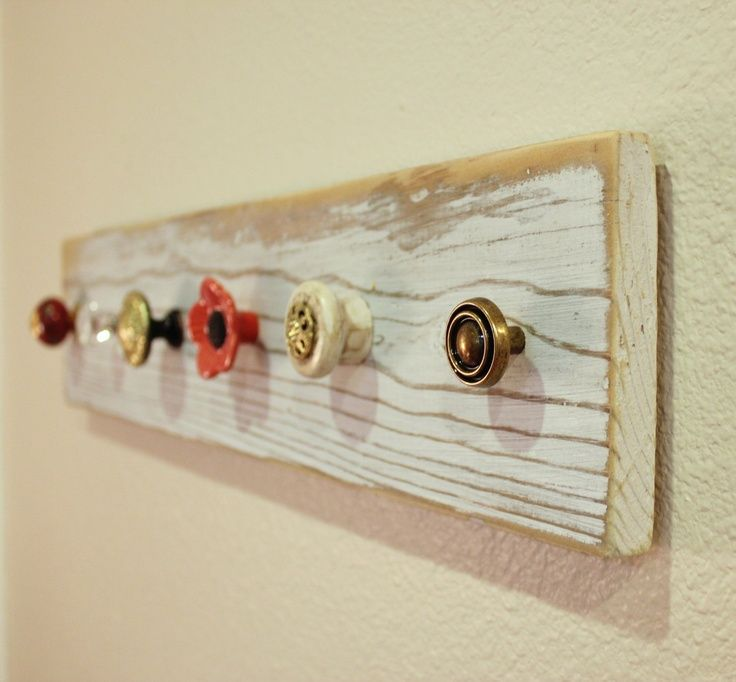 Craft Idea With Drawer Pulls | Mismatch Vintage New Knob Drawer Pull Coat  Rack Jewelry Hanger
