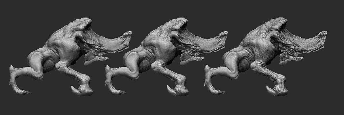 ArtStation - Mole Creature WIP, Marcin Koszalski