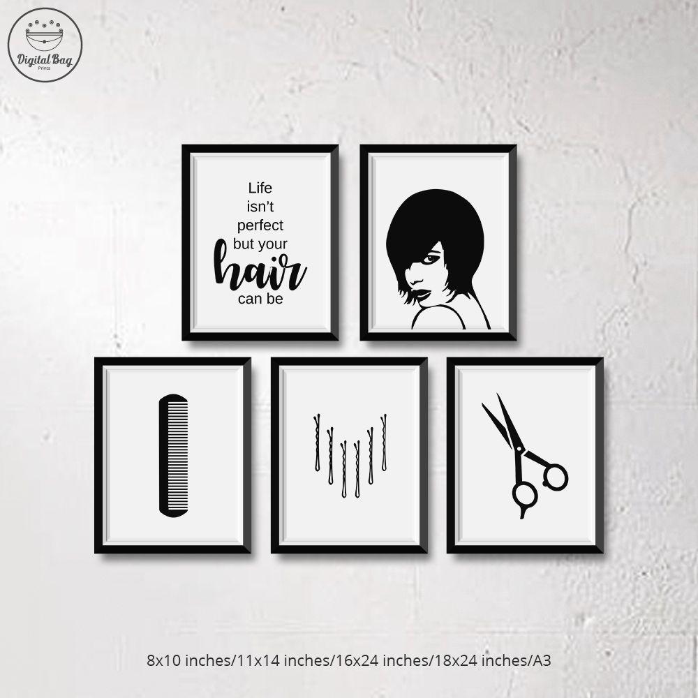 Salon Wall Art Hair Salon Decor Digital Download Salon Etsy Salon Wall Art Hair Salon Decor Hair Salon Art