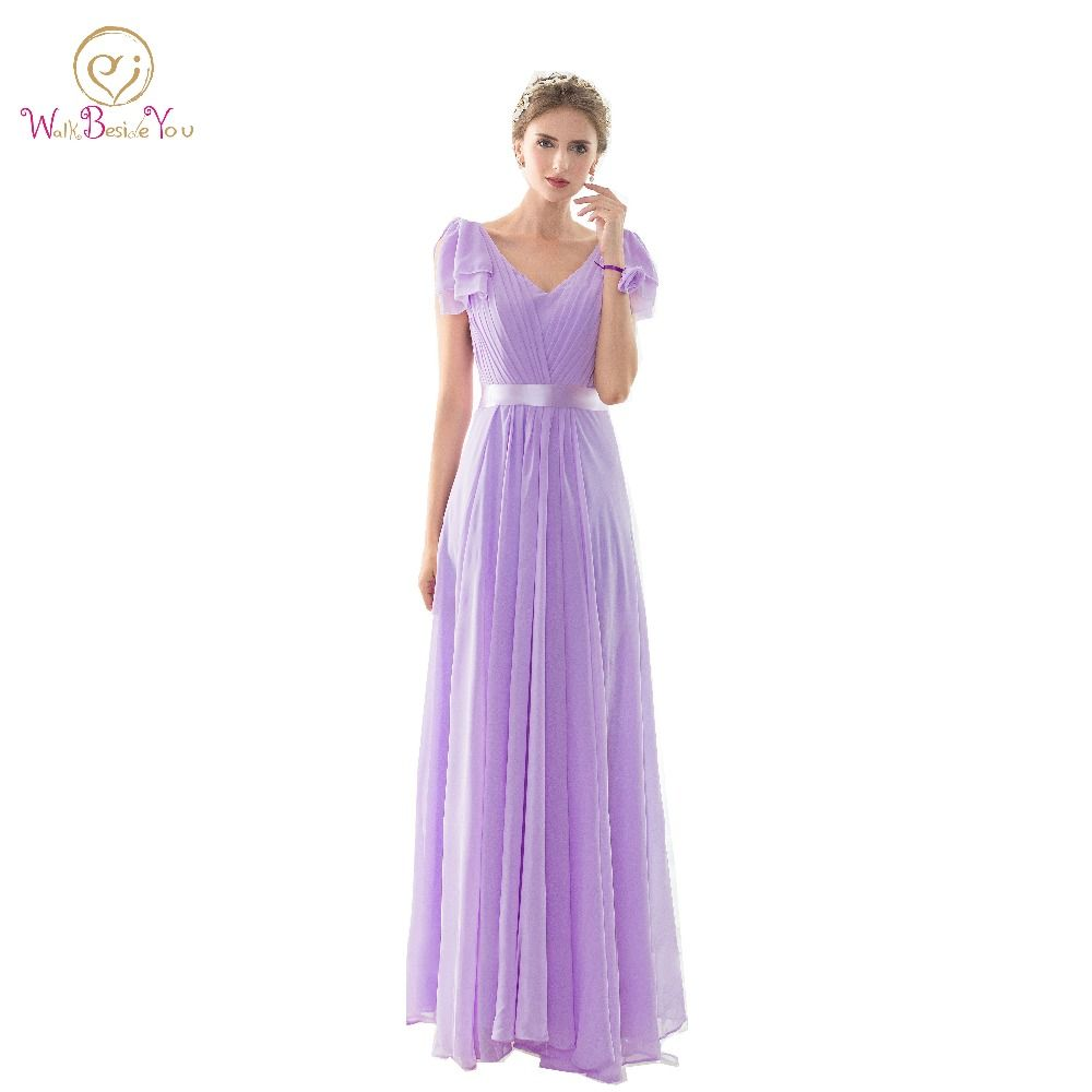 Click to buy ucuc real pictures bridesmaid dresses long lilac