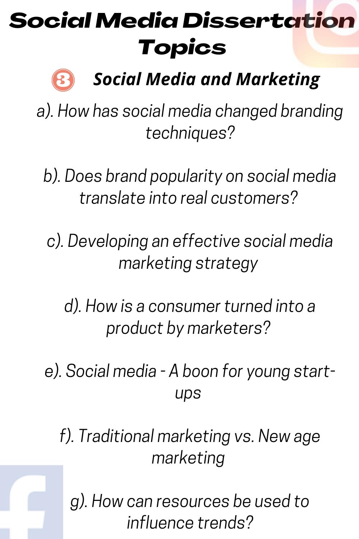 Social Media Dissertation Topic Idea Tip In 2020 Writing Topics