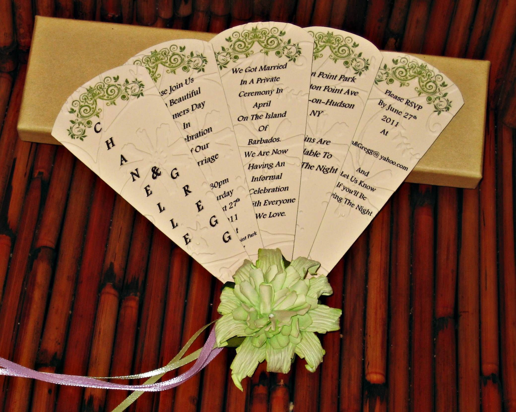 Informal Wedding Fan Card Invitation Pinterest Wedding Invitations Etsy Wedding Invitations Wedding Invitations