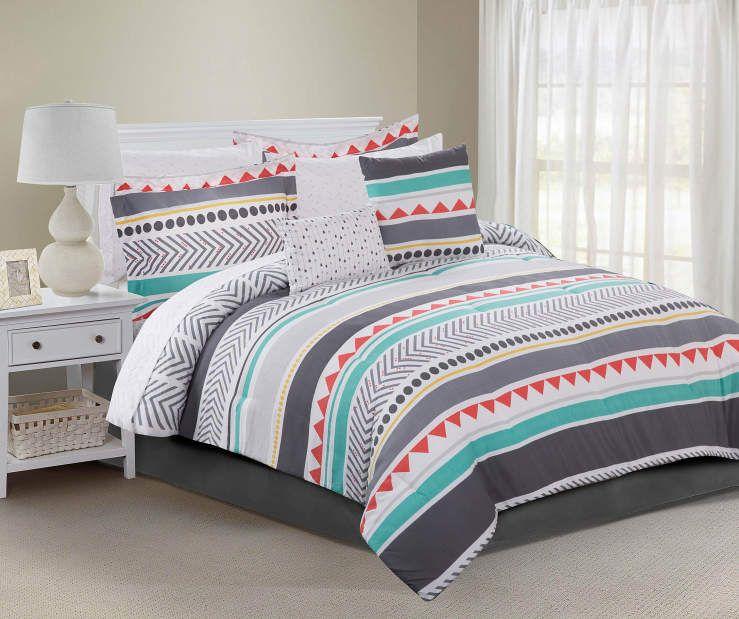 Taylor 10-Piece Full Reversible Comforter Set at Big Lots College