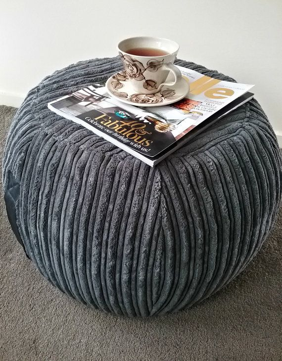 Groovy Ottoman Pouf Dark Grey Velvet Pouf Charcoal Round Pouf Ibusinesslaw Wood Chair Design Ideas Ibusinesslaworg
