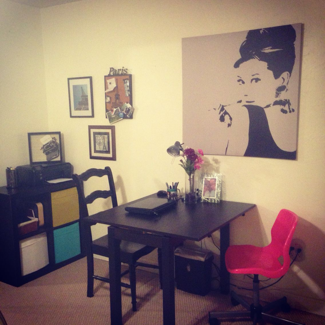 His and Hers office space Decor, French decor, Home