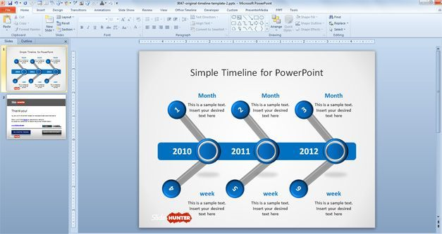 Free Simple Timeline Template For PowerPoint Free PowerPoint - Free powerpoint timeline templates