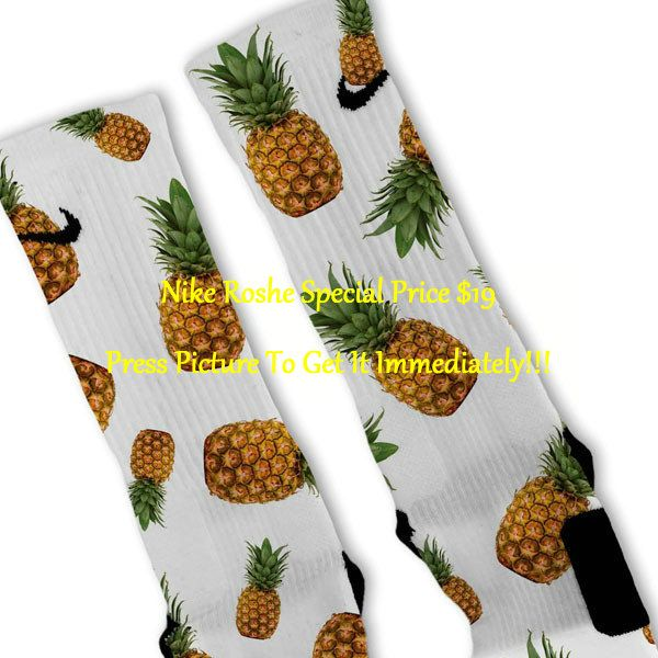 Pineapple Frenzy Custom Nike Elite Socks