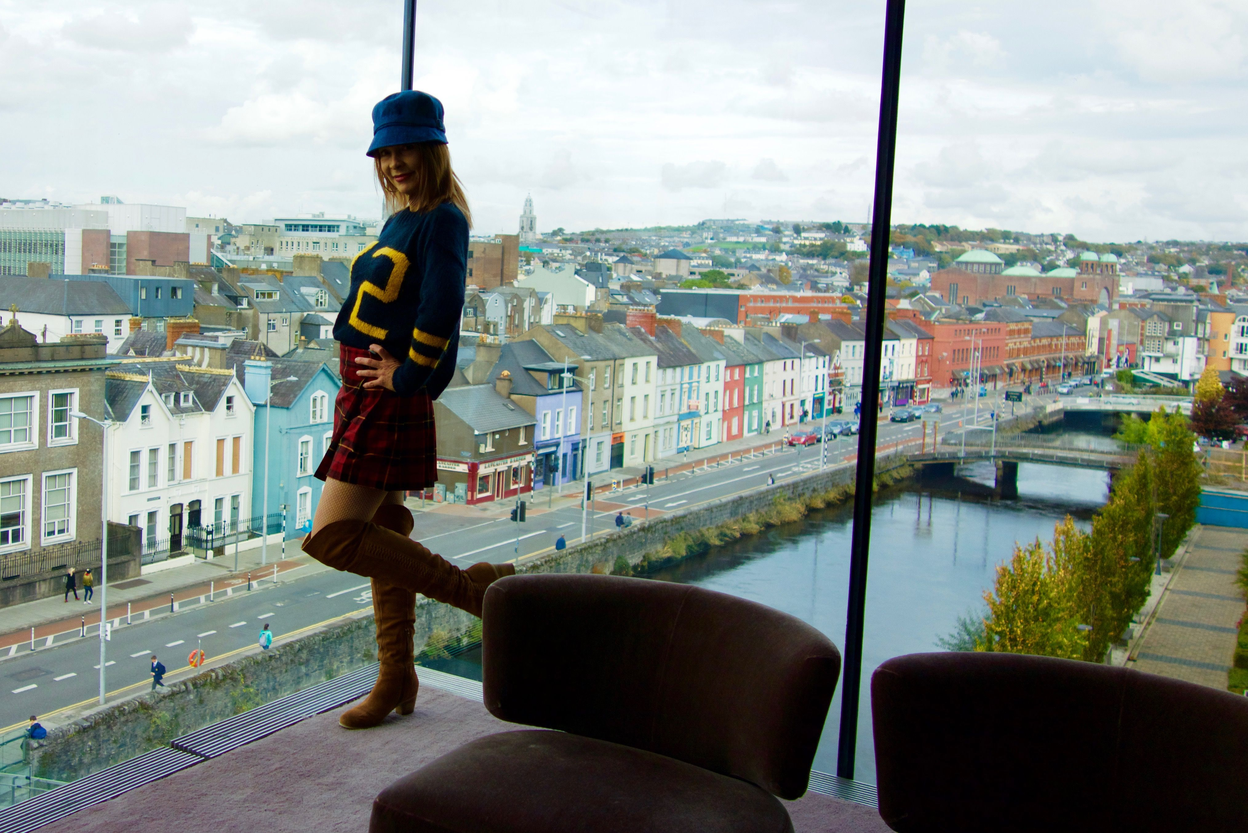 How to wear a MINI KILT in Cork, Ireland. Play my Youtube Video at Kelly Granite.