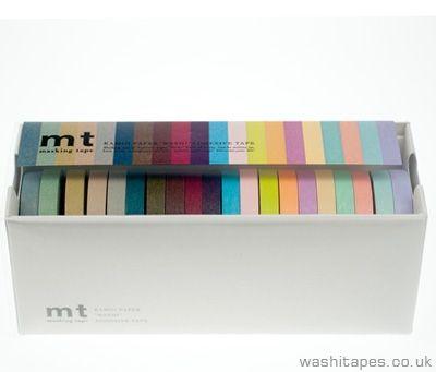 MT 20 Piece Thin Washi Tape Set TAPEworm Pinterest