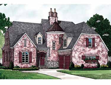 Charming Turret Hmaffdw25947 French Country House Plan From Frontdoor Country Style House Plans French Country House Plans French Country House