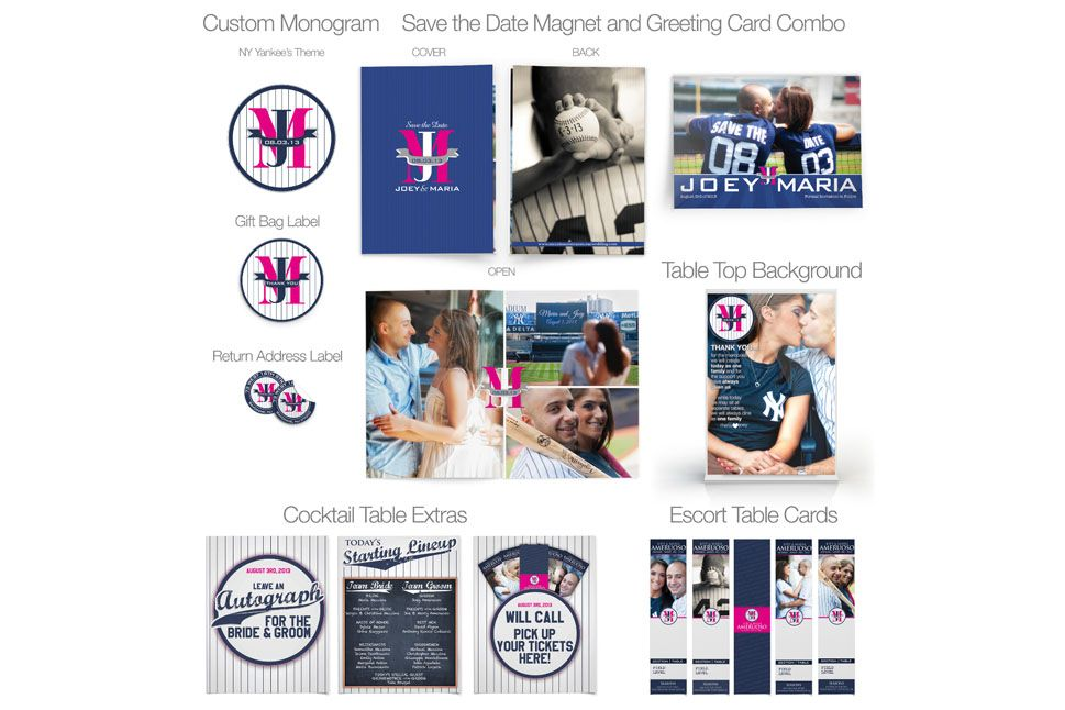 Yankees wedding invitation designs ny yankees wedding designs yankees wedding invitation designs stopboris Gallery