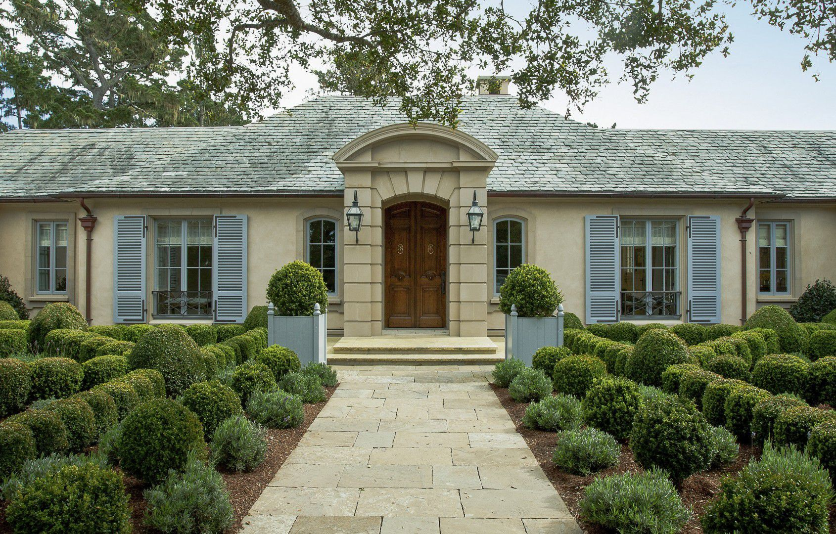 French Country House Plan On One Story Plans Custom Throughout