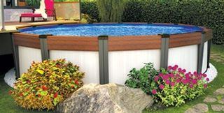 plan de patio avec piscine hors terre recherche google ext rieur pinterest patios and. Black Bedroom Furniture Sets. Home Design Ideas
