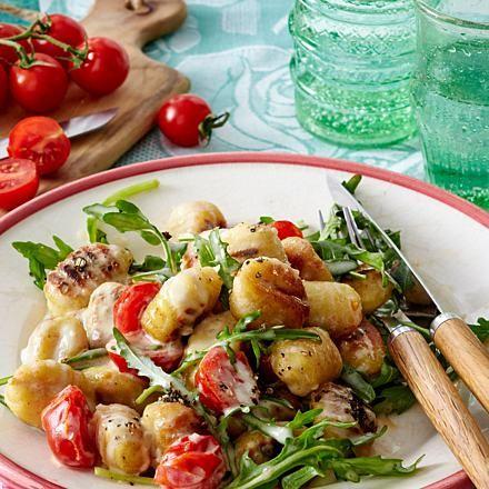 Gnocchi mit Tomaten-Käsesoße und Rucola Rezept | LECKER #mexicancooking