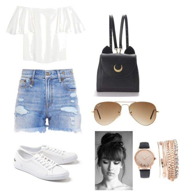 """Untitled #5"" by diana-nur-aisyah on Polyvore featuring Valentino, R13, Lacoste, WithChic, Ray-Ban and Jessica Carlyle"