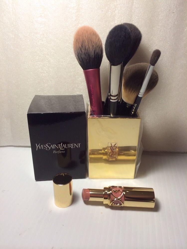 Yves Saint Laurent Make Up Jar Brush Holder Nib Rare Ysl Yvessaintlaurent It Cosmetics Brushes Ysl Makeup Brush Holder