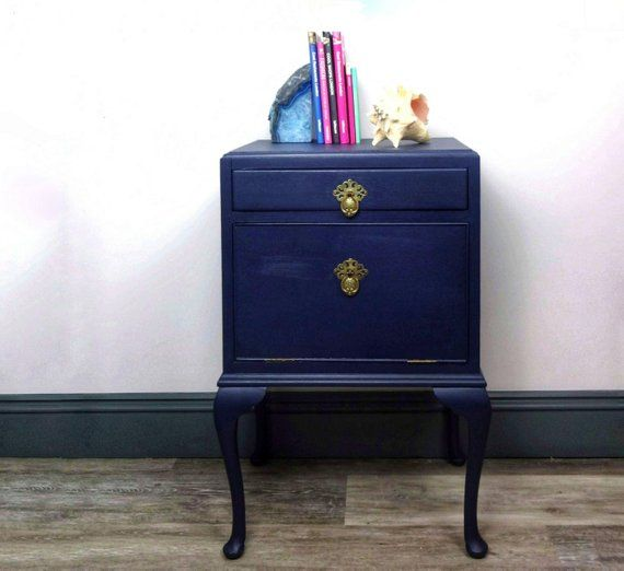 From Midnight To Duck Egg See: NOT FOR SALE Example Only: Midnight Blue Bedside Table