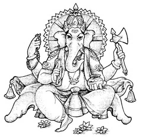 Ganesha Coloring Pages sketch template | Coloring books | Pinterest ...