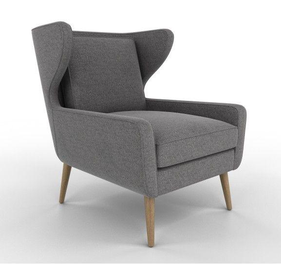 Herringbone Charcoal Cooper Chair from Dwell Studios