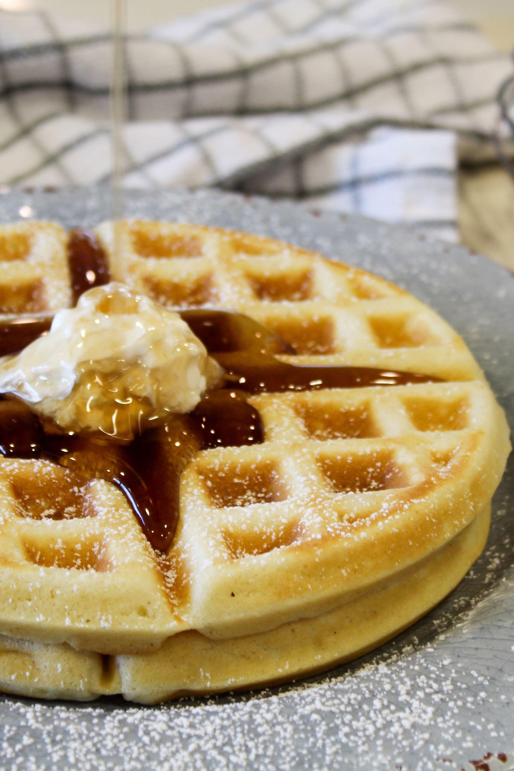 Buttermilk Waffles Recipe Buttermilk Waffles Homemade Waffles Waffles