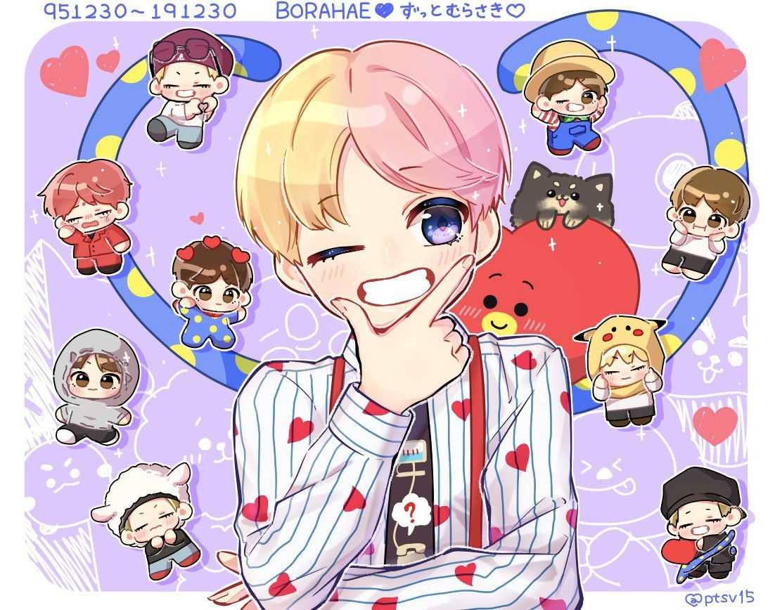 fanart🐯💓 in 2020 Bts fanart, Fan art, Chibi