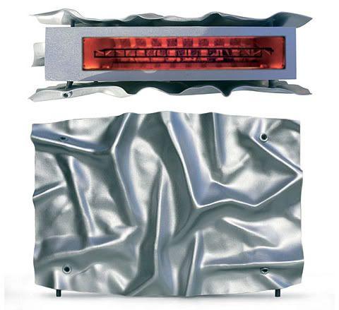 TOSTADORA. Sí ... sí ... es una tostadora diseñada por Olivier Gregoire .  Ver también: Inventables ( previamente publicado )