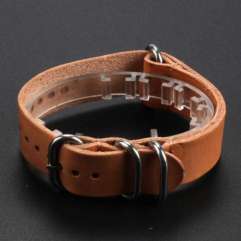 e61ffb92777 Leather · 18ミリメートル 20ミリメートル 22ミリメートルカーキ丈夫な本革deployant時計バンド. Watch  AccessoriesWatch BandsWrist ...