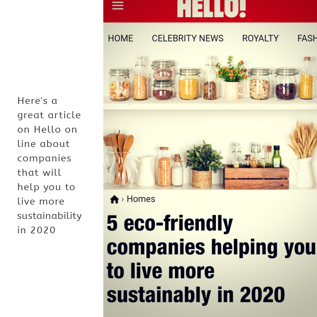 Here's a great article on Hello online about 5 of the best companies that will help you to live more sustainability in 2020. Written by Chloe Best check it out  @hellomag #hellomag #sustainability #saynotoplastic #ecofriendly #ecoliving #morethanswim