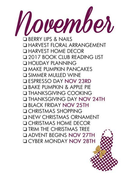 November Seasonal Living List                                                                                                                                                                                 More #fallbucketlist