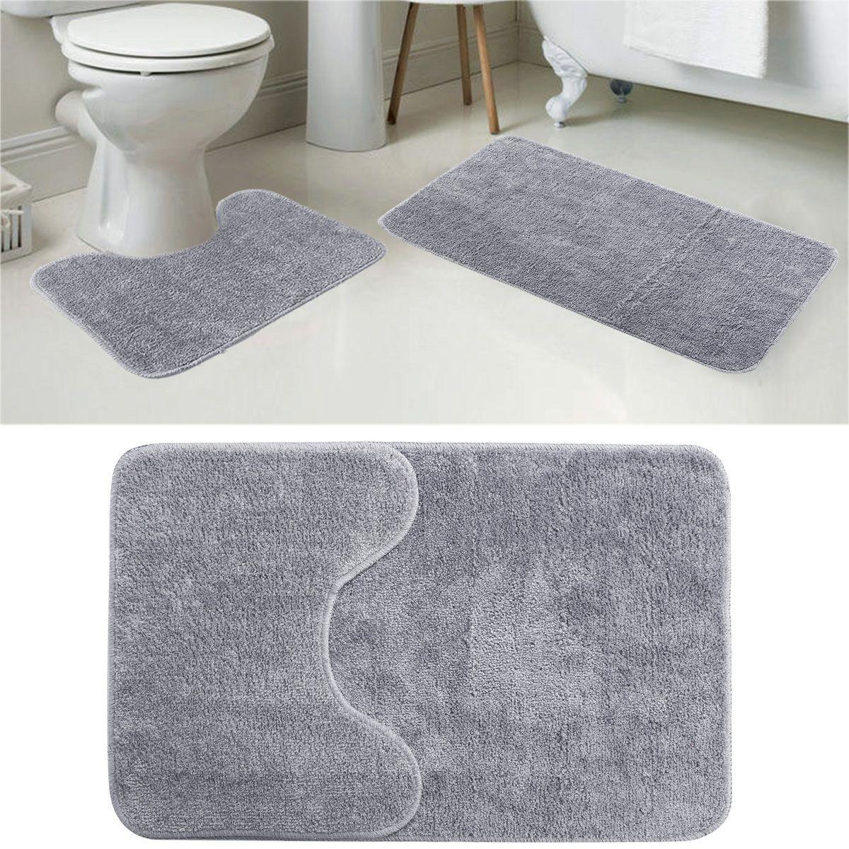 7 Er Set Grau Badvorleger Badematte Badteppich Badezimmer Teppich Eintagamsee Badematte Badteppich Badvorleger