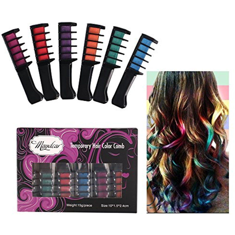 Temporary Hair Color CombWashable Hair Chalk for Hair Dye