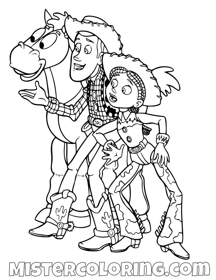 Toy Story Coloring Page For Kids — Mister Coloring Toy