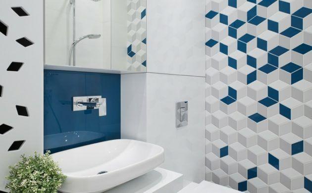 geometrische fliesen verlegen badezimmer gestaltung Badezimmer