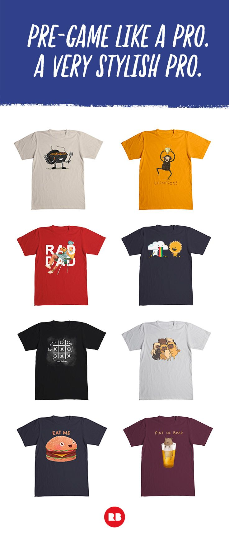 490d9f13 Pre-game like a pro with these funny t-shirts from Redbubble. A very  stylish pro. Get hyped for the big game with these awesome designs! # SuperBowl