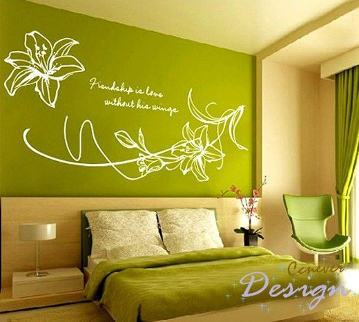 Blooming lily flowers Graphic Art wall decals stickers home decor & Blooming lily flowers 44by32inchRemovable Graphic Art by ccnever ...