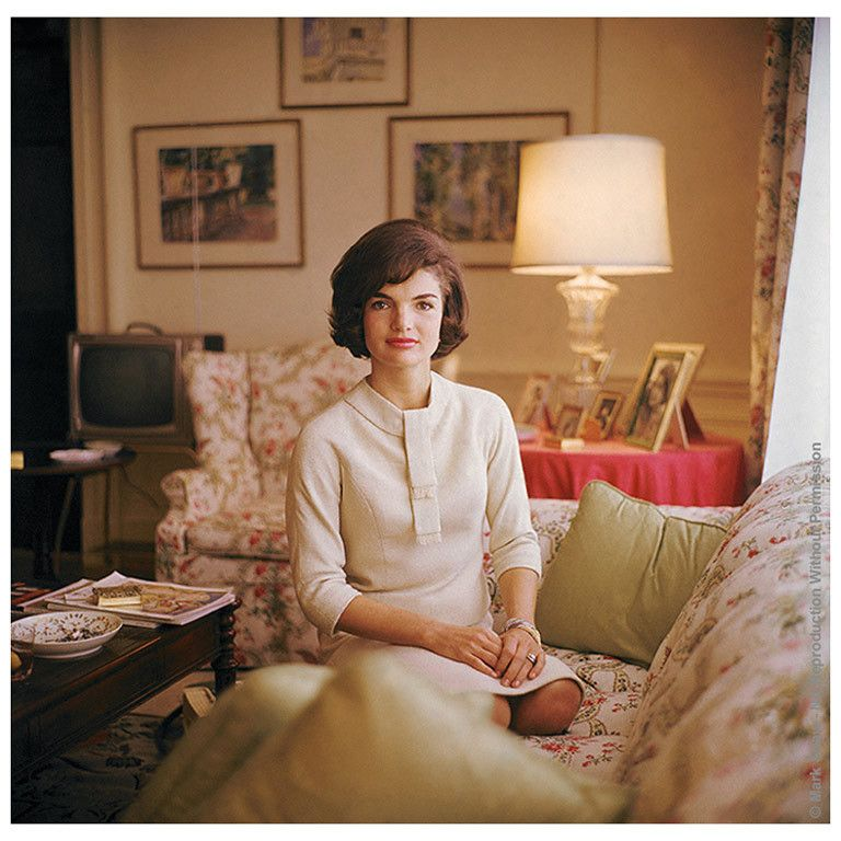 Editioned Photo By Mark Shaw-Jackie Kennedy In White House