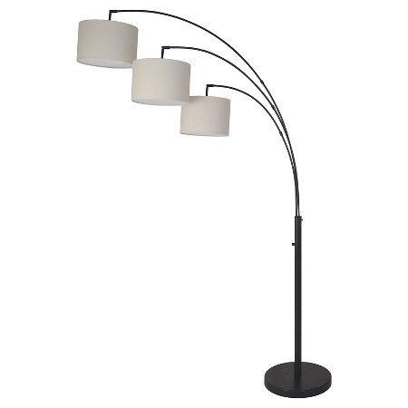 3 Head Shaded Floor Lamp Black - Threshold™ : Target | Fresh Start ...