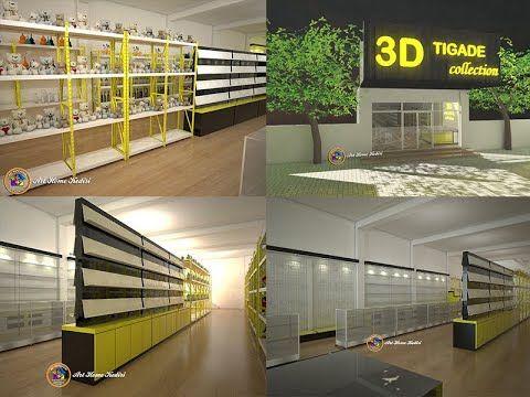 inspirasi interior toko dekorasi rumah & gaya hidup. 3d