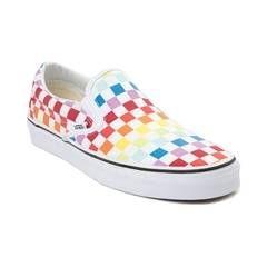 c8b2f33f6b Vans Slip On Rainbow Chex Skate Shoe