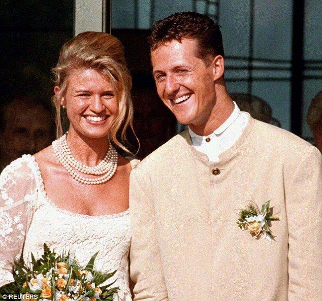Wedding Dress Circa 1995 Michael Schumacher And His Wife Corinna