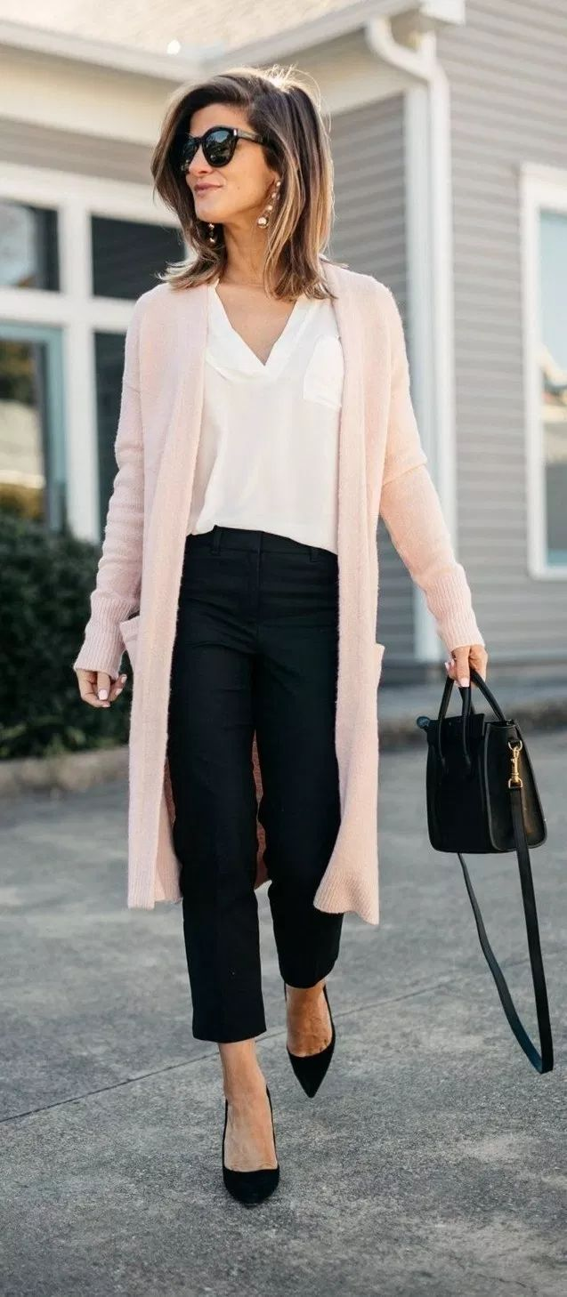 Classical Work Outfit For Winter #womensworkoutfits