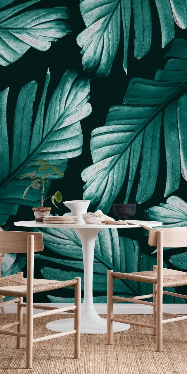Best Tropical Banana Leaves 2A Wall Mural Wallpaper Nature In 400 x 300