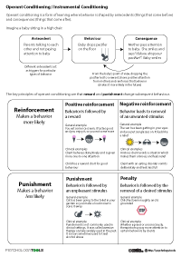 Operant Conditioning Worksheet Operant Conditioning /...